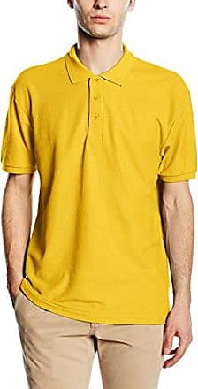 Fruit of the Loom SS035M, Polo Homme - Jaune (Sunflower Yellow) Large