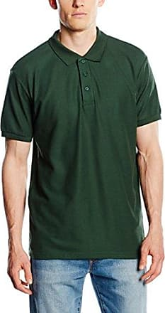 Polos Fruit of the Loom vert anis homme