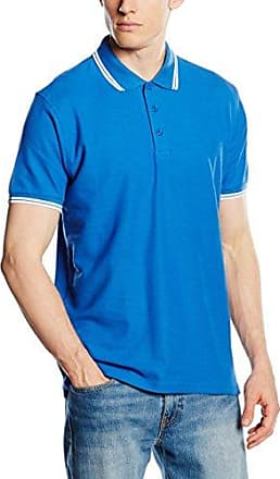 Fruit of the Loom SS034 - Polo - Homme - Bleu (Sky Blue/White) - Taille: XL
