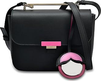 Elisir Mini Crossbody Bag in Onyx and Orchid Calfskin Furla