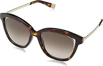 Womens SFU034 Sunglasses, Shiny Dark Havana, One Size Furla Eyewear