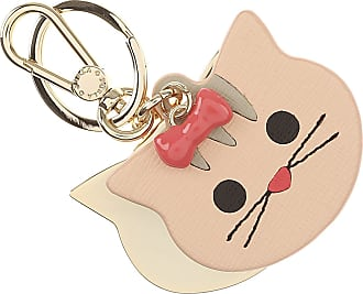 Furla Key Chain for Women, Key Ring, Powder, Leather, 2017, One size