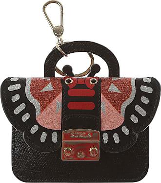 Furla Key Chain for Women, Key Ring On Sale, Powder Light Sky Blue, Leather, 2017, Universal Size