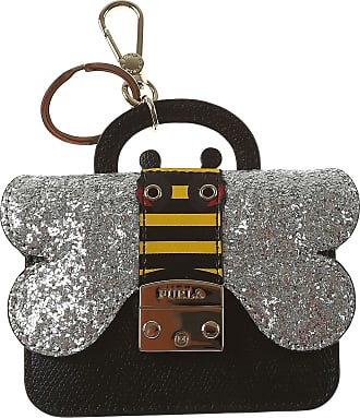 Furla Key Chain for Women, Key Ring On Sale, Black, Leather, 2017, Universal Size