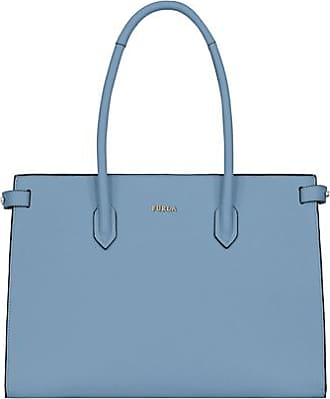 gebraucht - Kleine Handtasche in Anthrazit - Damen - Grau - Leder Furla