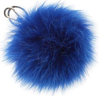 Furla Key Chain for Women, Key Ring On Sale, Blue, Fur, 2017, Universal Size
