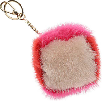 Key Chain for Women, Key Ring On Sale, Petrol Green, Fur, 2017, Universal Size Furla
