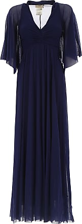 Dress for Women, Evening Cocktail Party On Sale, Blue, polyamide, 2017, 12 Fuzzi