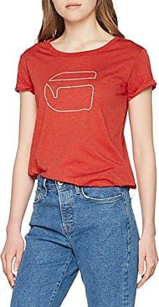 G-Star Luuto Splatter Straight R T Wmn S/s, Camiseta para Mujer, Multicolor (Bright Flame Htr/Milk Ao 8604), Large