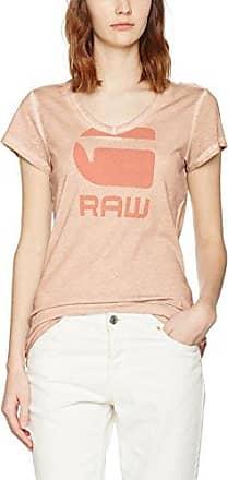 G-Star Ofel Slim V T Wmn S/s, Camiseta para Mujer, Azul (Lt Mauve 8882), X-Large