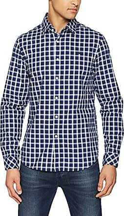 Core Shirt L/s, Camisa para Hombre, Multicolor (Black/Milk Ao 2 9191), Small G-Star