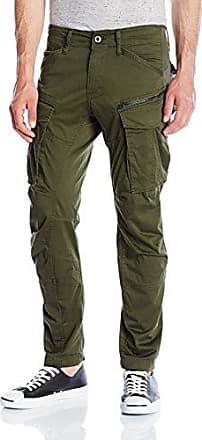 Mens Rovic Zip 3D Straight Tapered Trousers, Green (Dk Bronze Green 6059), W28/L30 G-Star
