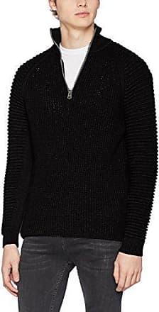Suzaki 1/2 Zip Knit L/s, Suéter para Hombre, Gris (Dk Grey Htr 2864), Medium G-Star