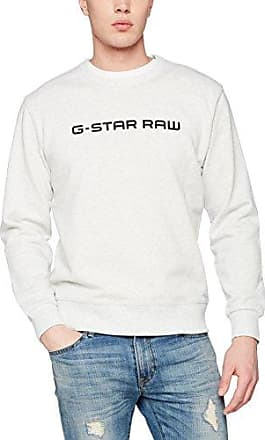 Doax R Sw L/s, Sudadera para Hombre, Blanco (White Htr 129), Medium G-Star