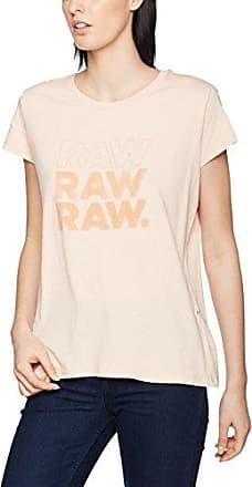G-Star Cirst Slim R T Wmn S/s, Camiseta para Mujer, Rosa (Necta Peach Htr 8285), 40 (Talla del Fabricante: Large)