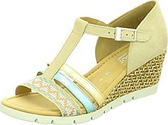 Gabor-Comfort Sandalette, Dreamvelour (Jute), silk (S.vanille), Weite G 42.845.40, Größe 40