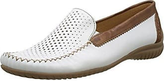 Atlanta - Mocasines Mujer, Color Blanco (Weiss 21), Talla 39 Jenny