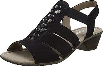Gabor Shoes Damen Fashion Offene Sandalen mit Keilabsatz, Blau (Pazifik/Ocean 16), 40.5 EU