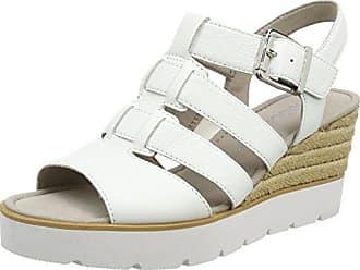 Gabor Shoes Gabor Basic, Sandales Bride Cheville Femme, Multicolore (Silber), 42 EU