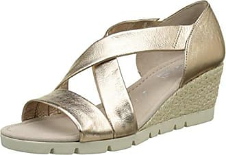Gabor Shoes Comfort, Sandales Bout Ouvert Femme, Marron (Peanut Jute), 35 EU