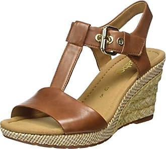 Fashion, Sandalias con Cuña para Mujer, Amarillo (Rame/Antikrosa 64), 40.5 EU Gabor