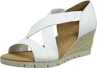 Gabor Shoes Gabor Jollys, Sandalia con Pulsera para Mujer, Blanco (Weiss/Schwarz), 35.5 EU