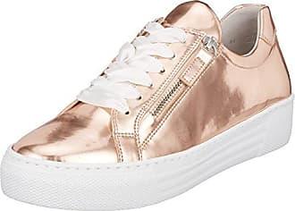 Gabor Shoes Comfort Basic, Zapatos de Cordones Derby para Mujer, Multicolor (Silber S.Weiss), 39 EU