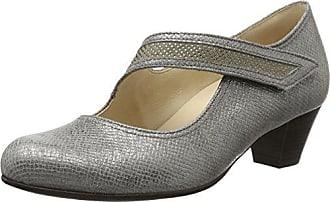 Gabor Shoes Gabor Basic, Escarpins Femme, Gris (Grau S.Weiss), 35.5 EU
