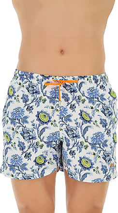 Swim Shorts Trunks for Men On Sale, Pastel Blue, polyester, 2017, S M L Gallo