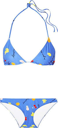 Rixo London Bikini Triangle Imprimé Lucia And Kea - Bleu marine