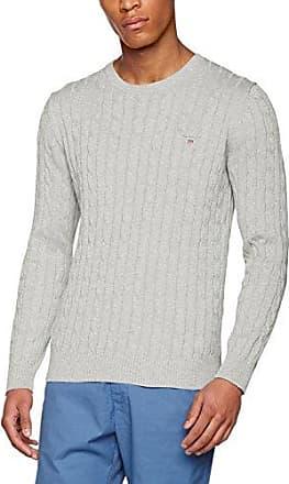 Piqué Crew Sweater, Pull Homme, Gris (Grey Melange), XX-LargeGANT