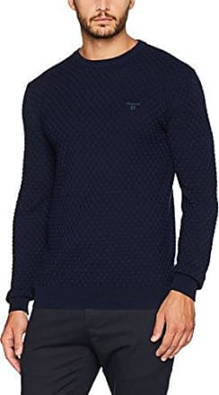 GANT Cotton Wool Crew Sweater, Pull Homme, (Tartan Green Mel), X-Large
