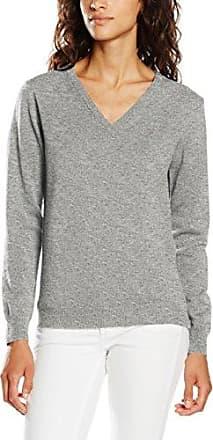 Superfine Lambswool V-Neck Sweater, Pull Femme, Bleu (Stone Blue Melange), 14 (Taille Fabricant: Large)GANT