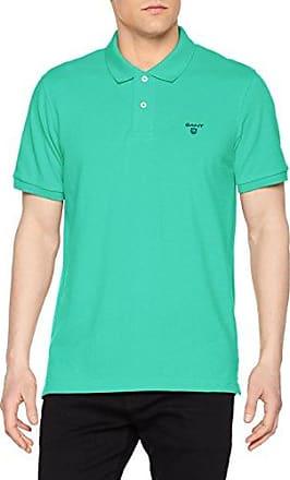 Contrast Collar PIQ SS Rugger, Camiseta para Hombre, Verde (Porcelain Green), Medium GANT