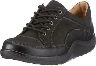Ganter Sensitiv Inge, Weite I - Zapatos De Cordones para mujer, color grau (schwarz 0100), talla 42.5