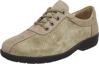 Ganter Sensitiv Inge, Weite I - Zapatos con Cordones de Cuero Mujer, Color Negro, Talla 42