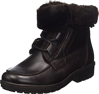 Kathy, Weite K - Botas de Caño bajo de Cuero Mujer, Color Negro, Talla 34.5 Ganter