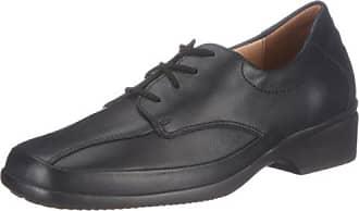 ERIC, Weite G - zapatos con cordones de cuero hombre, Negro, 44.5 Ganter