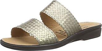 cashott A17112 - Mules Mujer, Dorado (Cocco Gold 190), 39 EU