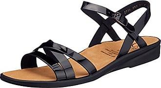 Ganter Sonnica, Weite E 3-202814-01000 - Sandalias de vestir de cuero para mujer, Negro (schwarz 0100), 43 EU (9 UK)