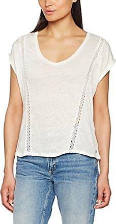 Garcia Jeans Garcia B70226, Camiseta de Manga Larga para Mujer, Blanco (Off White 53), 38 (Talla del Fabricante: S)