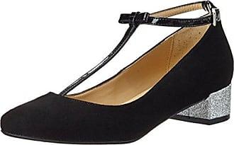 Cille, Mary Jane Femme, Noir (Suede Patent Black), 39 EUGardenia Copenhagen