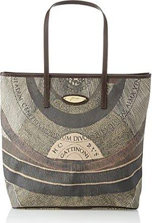 Gattinoni Bag Damen Shopper Leather Schnürsenkel Cm 34x30x14 Braun / Multicolor Gattinoni