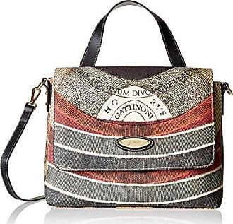Ggvb004, Womens Top-Handle Bag, Nero, 6.5x15x18.5 cm (W x H L) Gattinoni