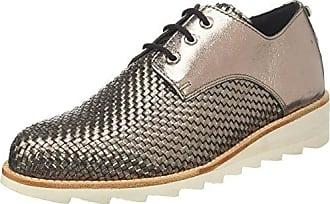 Generic Mujer Plataforma con cordones Blanco Lona Alpargatas Entrenadores Zapatos 23309 EU36