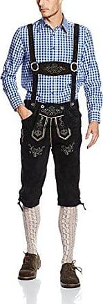 E100, Pantalones de Cuero Regionales Para Hombre, Marrón (hellbraun 040), 46 Gaudi Leathers