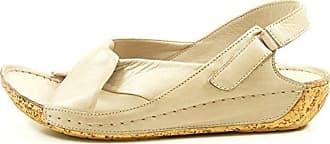 Gemini 32024-02 Schuhe Damen Sandalen Sandaletten Leder, Schuhgröße:38, Farbe:Schwarz