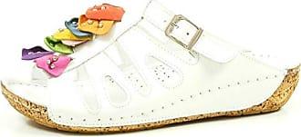 Gemini 32087-02-001 Schuhe Damen Sandalen Pantoletten Clogs, Schuhgröße:40, Farbe:Weiß