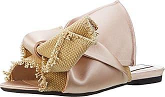N°21 8178.5 - Sandalias con Punta Abierta de Tela Mujer, Color Rosa, Talla 38 EU