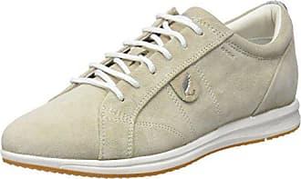Geox Leder-Keilsneakers in Beige - 50%